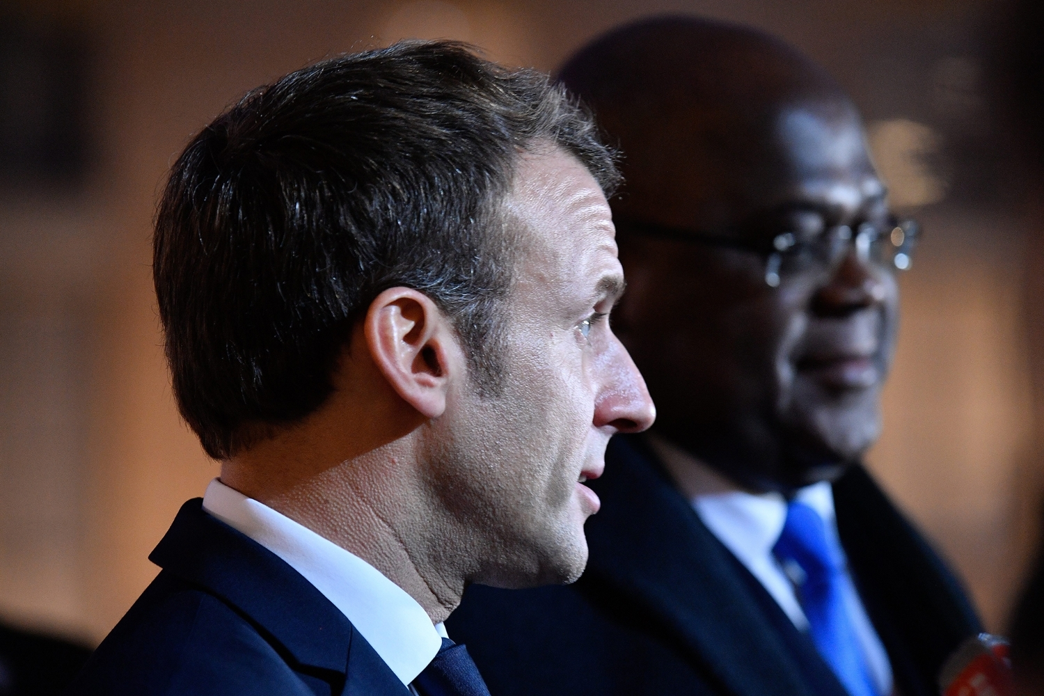 French President Emmanuel Macron and his DRC countepart Félix Tshisekedi in 2019.