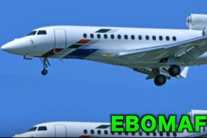 Falcon 7X de Liza Transport International dans le clip Ebomaf Force One avec Chocki.
