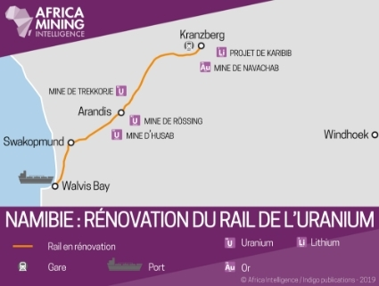 Namibie : rénovation du rail de l'uranium