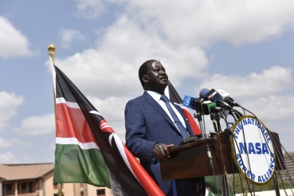 Le leader de l'opposition, Raila Odinga.