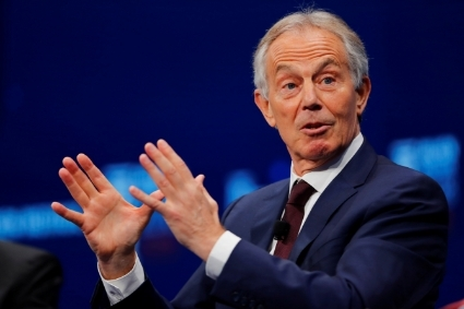 L'ancien premier ministre britannique Tony Blair.