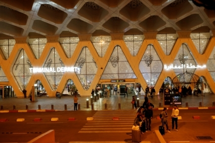 L'aéroport de Marrakech.