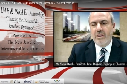 Capture d'écran du webinar 'UAE & Israel Partnership : changing the diamond and jewellery dynamics'.