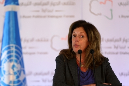 La cheffe de la mission des Nations unies en Libye (UNSMIL), Stephanie Williams.