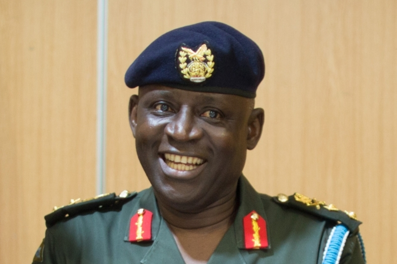 Le chef d'état-major des Ghana Armed Forces (GAF) Obed Boama Akwa