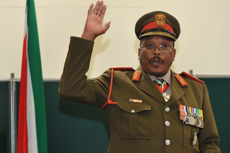 Le chef de l'état-major des SANDF Solly Shoke.
