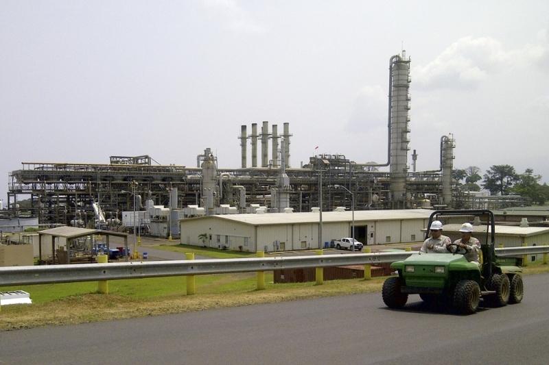 Les installations gazières de Punta Europa, sur l'île de Bioko, en Guinée équatoriale.